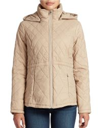 Jessica Simpson Hooded Packable Puffer Jacket - Lyst