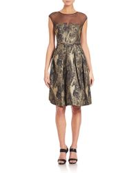 Pamella | Marbled Jacquard And Tulle Dress | Lyst