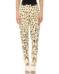 Willow - Print Draped Trousers Ocelot - Lyst