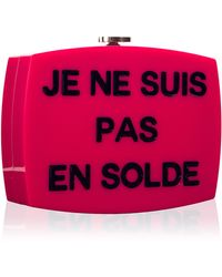 """Madison Avenue Couture - Runway Edition Chanel """"Je Ne Suis"""" Evening In The Street Clutch - Lyst"""