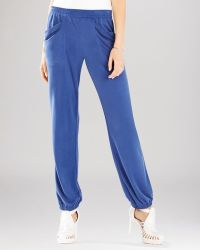 BCBGMAXAZRIA Lance Drape Pocket Joggers - Blue