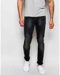 Lindbergh - Skinny Stretch Jeans In Faded Grey - Winter Grey - Lyst