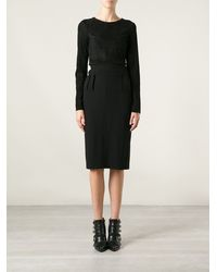 Ann Demeulemeester Black Pencil Skirt - Lyst