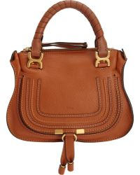 Chloé Marcie Mini Satchel With Strap - Lyst