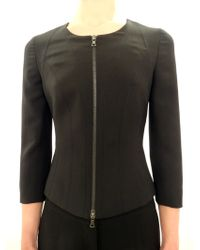 Narciso Rodriguez Wool And Silk Fitted Jacket - Lyst