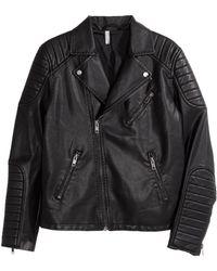 H&M Biker Jacket black - Lyst
