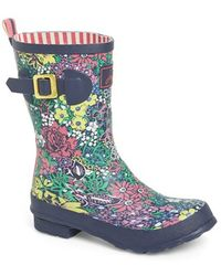 Joules Mid Height Print Welly Rain Boot - Lyst