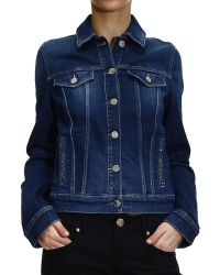 Armani Jeans Jacket Denim With Strass - Lyst