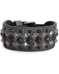 Frye - 'deborah' Studded Leather Cuff Bracelet - Lyst