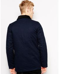 Brixtol Jacket With 4 Pockets And Cord Collar - Blue