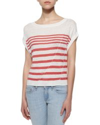 Rag & Bone/JEAN The Christa Striped Linen Top - Lyst