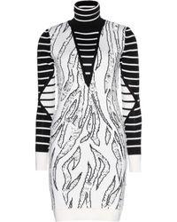 McQ by Alexander McQueen Laddered Woolblend Intarsia Sweater Dress - Lyst