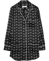 Equipment Gavin Heart-Print Silk-Satin Pajama Shirtdress - Lyst