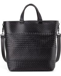 Bottega Veneta Men'S Woven Open Shopper Tote Bag - Lyst