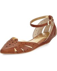 Seychelles Siren Call Perforated Leather Flat - Lyst