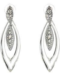 Alexis Bittar Encrusted Marquis Dangling Post Earrings - Lyst