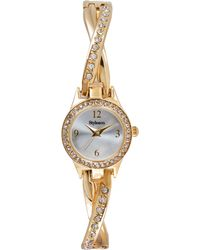 Style & Co. - Style&Co. Women'S Crystal Accent Gold-Tone X-Shaped Bracelet Watch 30Mm Sc1443 - Lyst