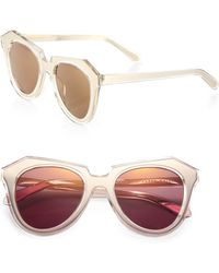 Karen Walker Number One 51mm Modified Cats-eye Sunglasses - Lyst