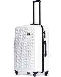 "Dot Drops - X-tra Light 29"" Suitcase - White - Lyst"