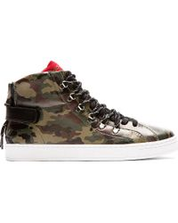Dolce & Gabbana Green Camo Leather High_top Sneakers - Lyst