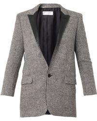 Saint Laurent Single-Breasted Tweed Jacket - Lyst