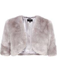 Coast Bleeker Faux Fur Cover Up - Grey