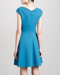Z Spoke by Zac Posen V-neck Cocktail Dress Resort Aqua - Lyst