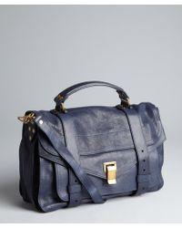 Proenza Schouler Midnight Leather Ps 1 Medium Satchel - Lyst