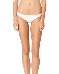 Mara Hoffman Ruched Brazilian Bikini Bottom - Lyst