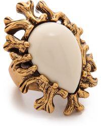 Oscar de la Renta Coral Branch Ring - Ivory - Lyst