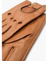 Mango - Openwork Leather Gloves - Lyst