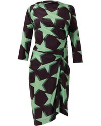 Vivienne Westwood Anglomania Taxa Star-Print Dress purple - Lyst