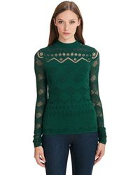 Catherine Malandrino Jackie Long Sleeve Top - Lyst
