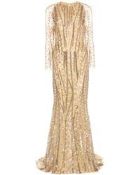 Zuhair Murad Embellished Floor-Length Gown - Lyst