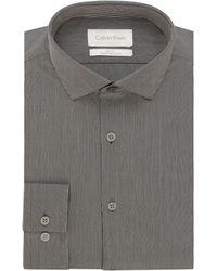 Calvin Klein Slim Fit Micro Stripe Dress Shirt - Lyst