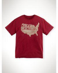 Ralph Lauren Map-Graphic Slub Cotton Tee - Lyst