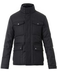 Gucci Wool-twill Down Field Jacket - Lyst