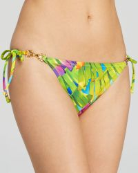 Trina Turk Polynesian Palm Tie Side Bikini Bottom - Lyst