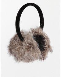 Oasis Grey Faux Fur Earmuffs - Lyst