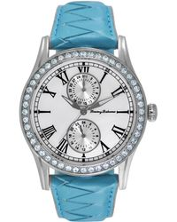 Tommy Bahama - Women's Swiss Blue Woven Leather Strap Watch 40mm Tb2156 - Lyst