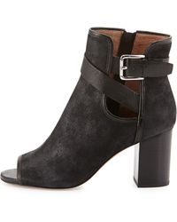 Donald J Pliner Greco Peep-Toe Ankle Bootie - Lyst