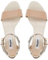 Dune Katy Wedge Heeled Sandals - Brown