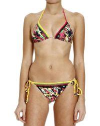 M Missoni Beachwear Bikini Triangle Print - Multicolour