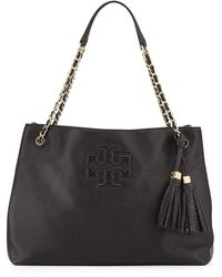 Tory Burch Thea Large Chain Tote Bag Black - Lyst
