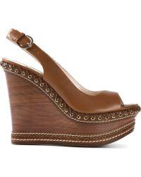 Casadei Wedge Sandals - Lyst