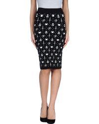 Chloë Sevigny x Opening Ceremony Knee Length Skirt black - Lyst