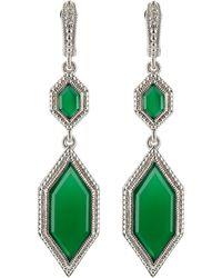 Judith Ripka - Modern Deco Double Drop Chalcedony Earrings - Lyst