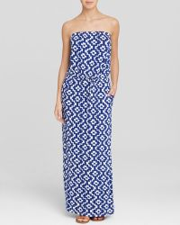 Macbeth Collection - Printed Strapless Swim Cover Up Maxi Dress - Lyst