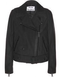 Acne Studios Mape Scuba Leather Jacket - Lyst