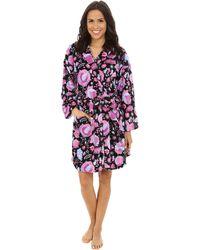 Vera Bradley Hooded Fleece Robe - Purple